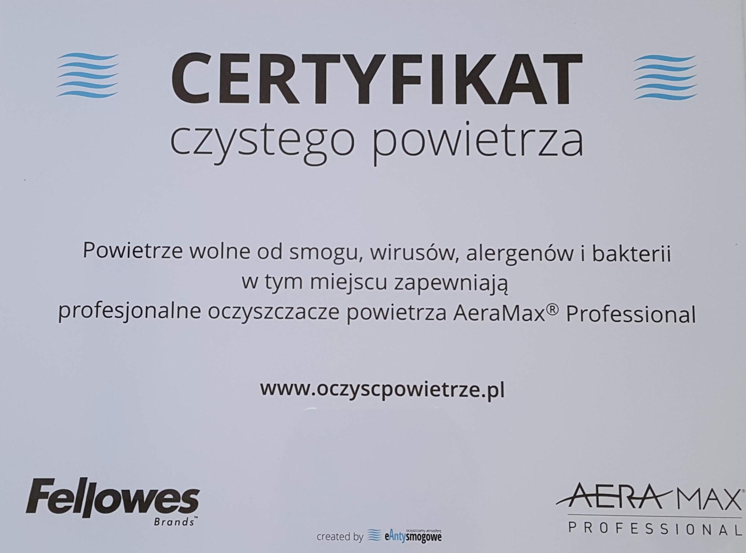 Certyfikat czystego powietrza